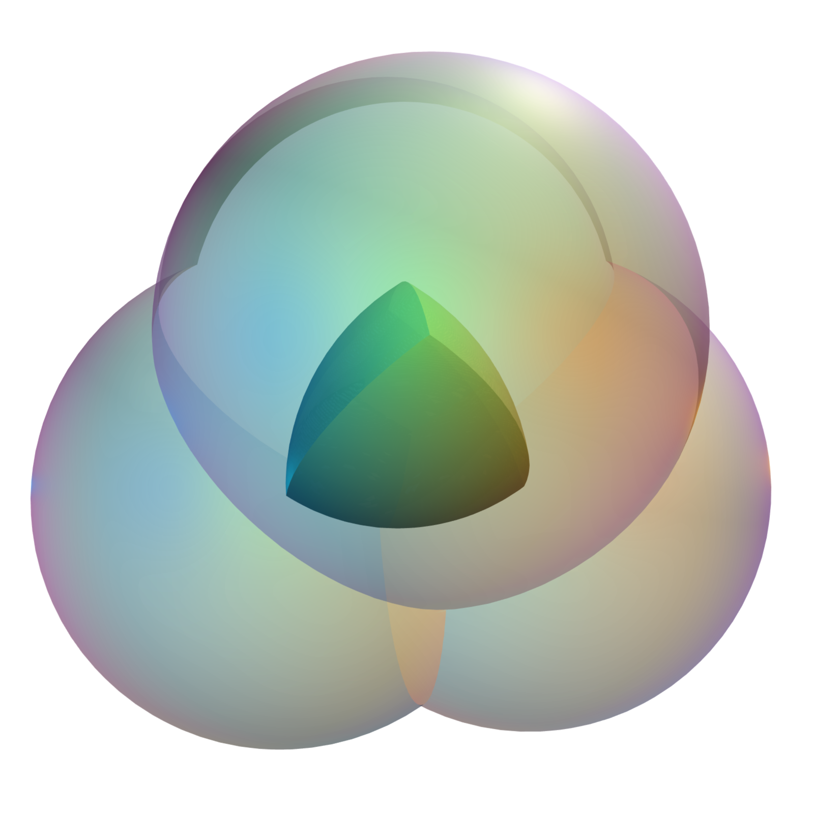Volume and Surface area of the Spherical Tetrahedron